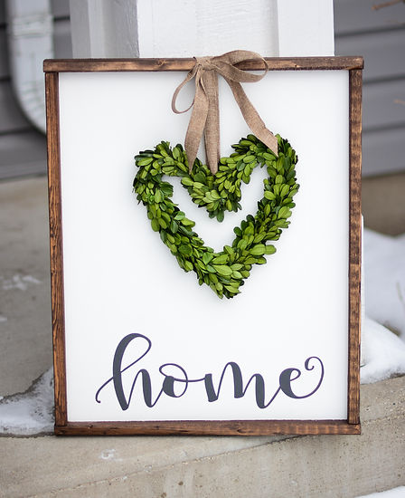 Home Boxwood Hand Painted Sign