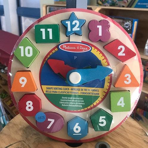 Reloj para clasificar formas