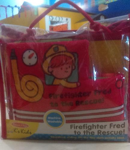 Libro de tela bomberos