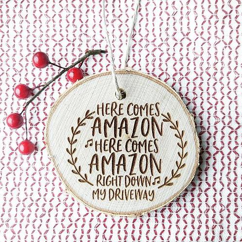 Wood Burned Ornaments- Amazon or Target