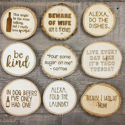 Wood Burned Magnets