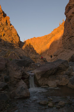 Trough the canyon