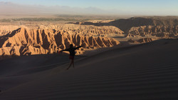 Walking down the dunes