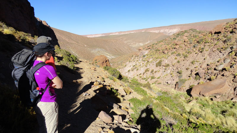 Going down from the altiplano