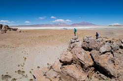 First view of Tara salt flat