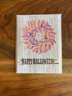 Happy Halloween Orange and Purple Card