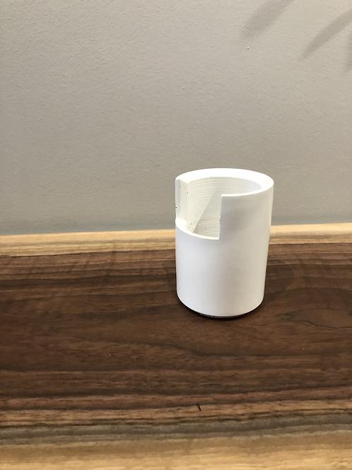 Concrete Open Cup- White