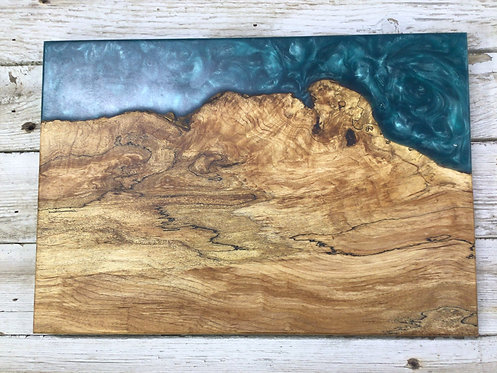 Spalted Maple and River Resin Charcuterie Board