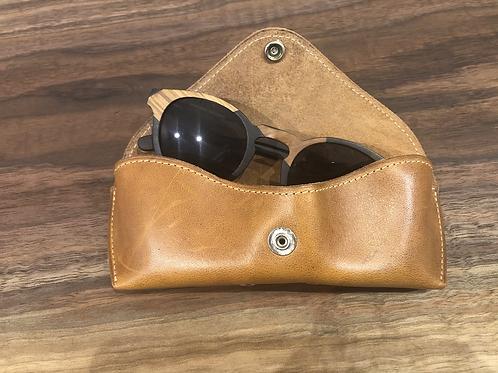 Leather Eye Glass Case-Tan