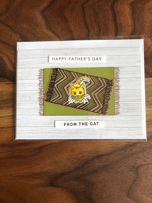 Handmade Father's Day card- From The Cat