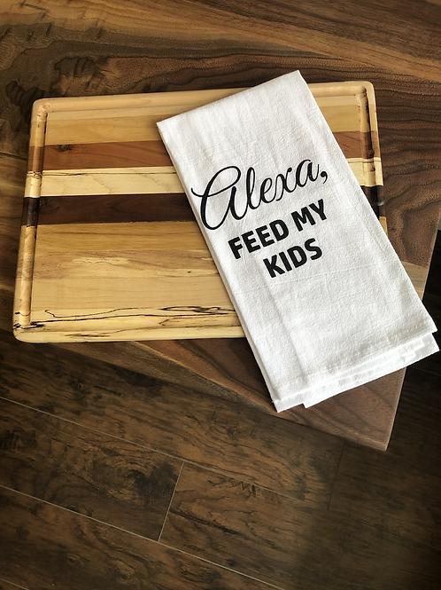 Alexa, Feed My Kids dish towel