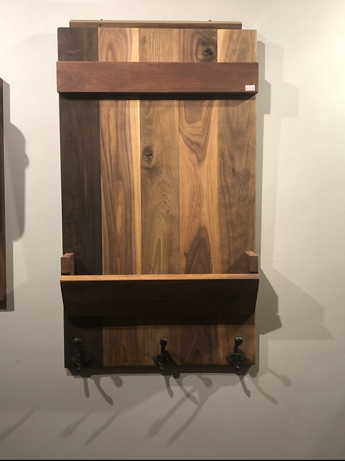 Black Walnut Family Hub Organizer
