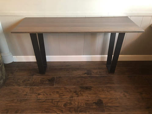 Ipe Wood Wall Table  w/ Metal Legs