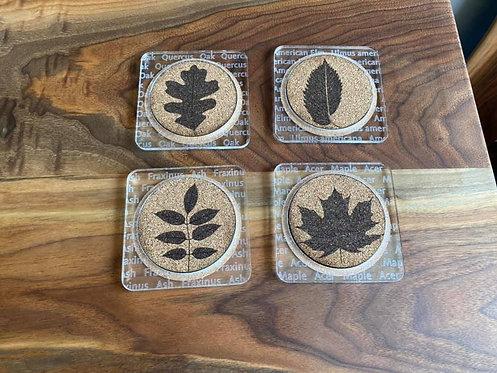 Leaf Print Coasters