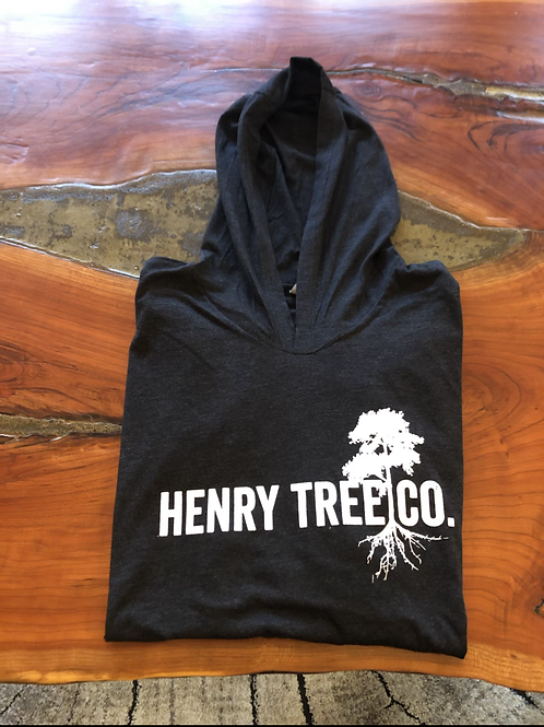 Henry Tree Hooded Long Sleeve-Vintage Black