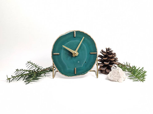Green Agate Clock