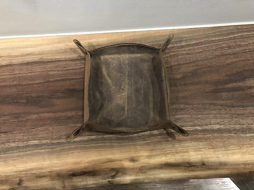 Handmade Leather Valet-Brown