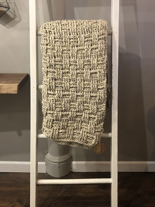 Crotchet Blanket-Grey