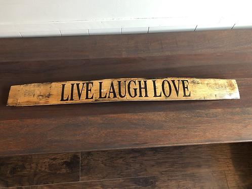 Barrel Stave- Live Laugh Love