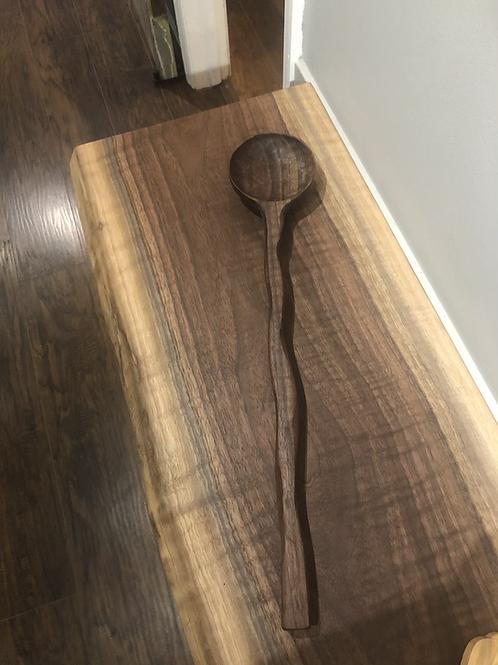 Black Walnut Carved Wooden Spoon