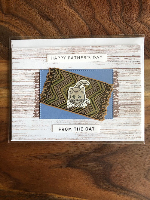 Handmade Father's Day Card-From The Cat