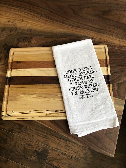 Some Days dish towel