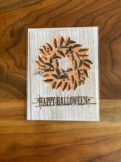 Happy Halloween Orange and Black Card