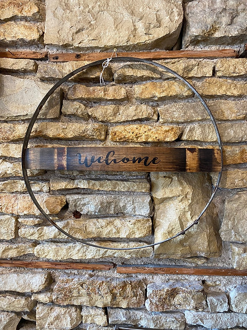 Welcome Hoop w/ Barrel Stave