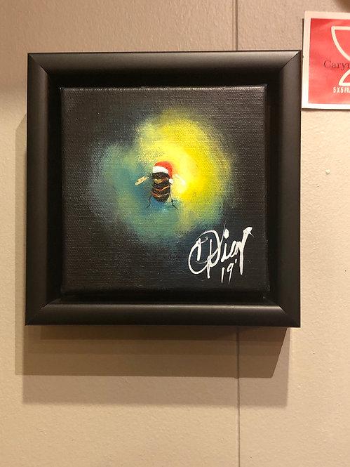 Bee Happy Framed Acrylic on Canvas