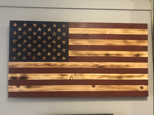 Large Wooden American Flag