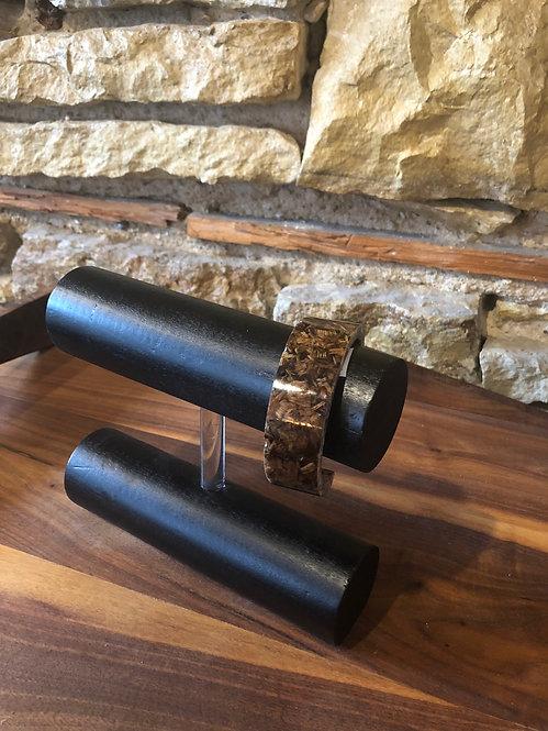 Oak Wood Shavings Bangle