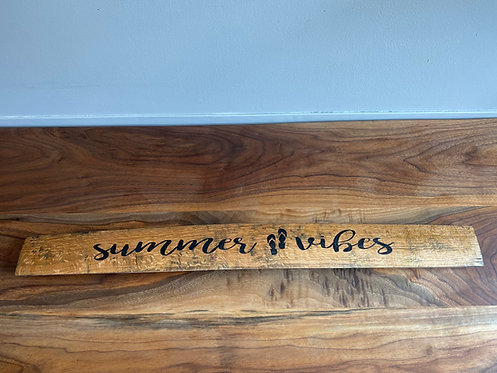 Summer Vibes Stave Wall Decor