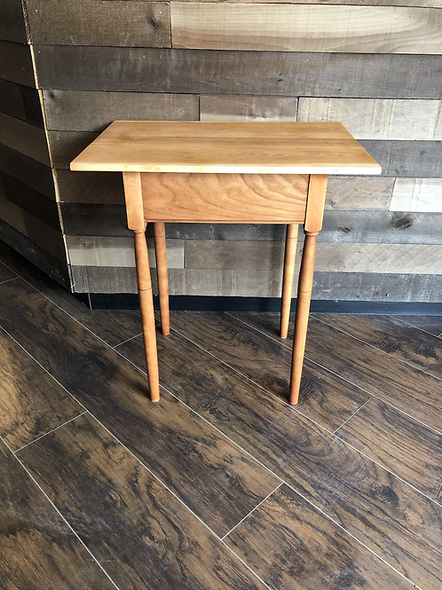 Cherry Wood Turned Side Table