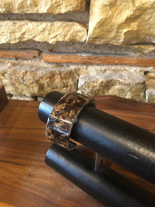 Black Walnut Wood Shavings Bangle