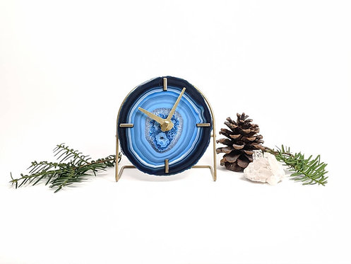 Blue Agate Clock