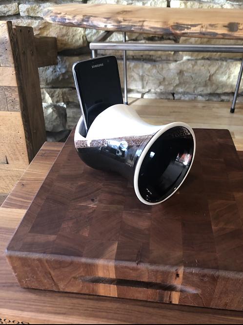 Black/White Ceramic Phone Speaker