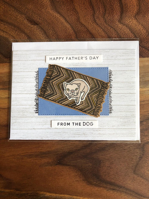 Handmade Father's Day Card-From The Dog