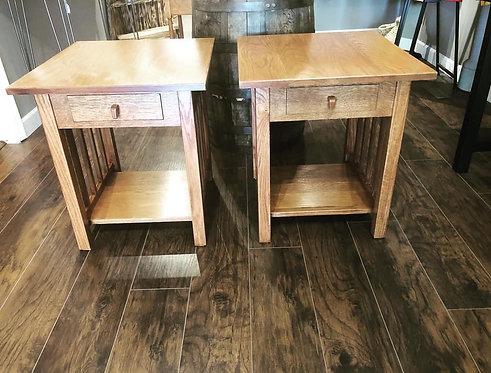 Oak Mission Style Side Table