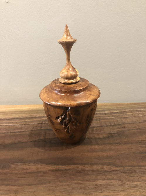 Burl and Cedar Vase