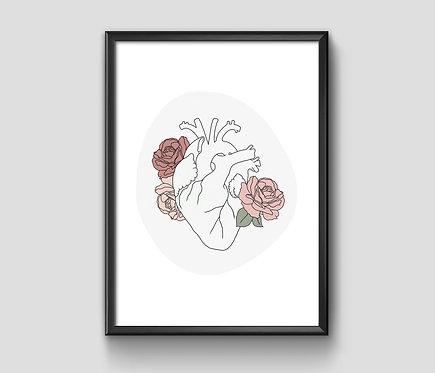 Botanical Heart 8x10 Print