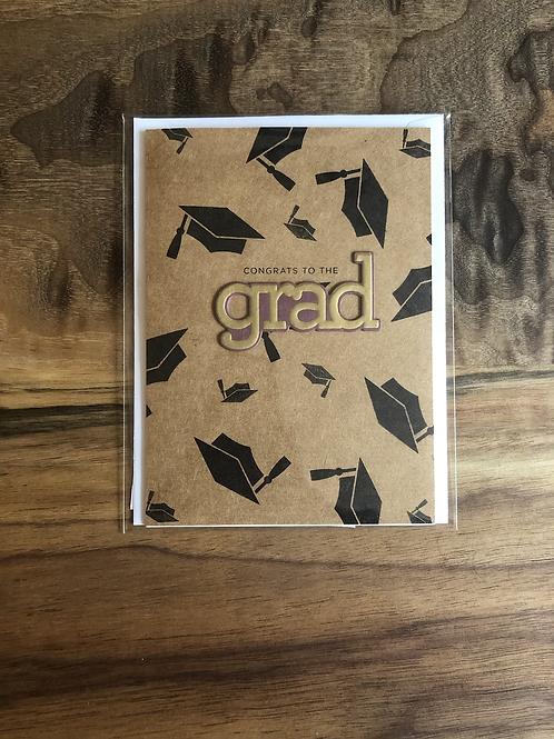 "Handmade Card ""Congrats To The Grad"""
