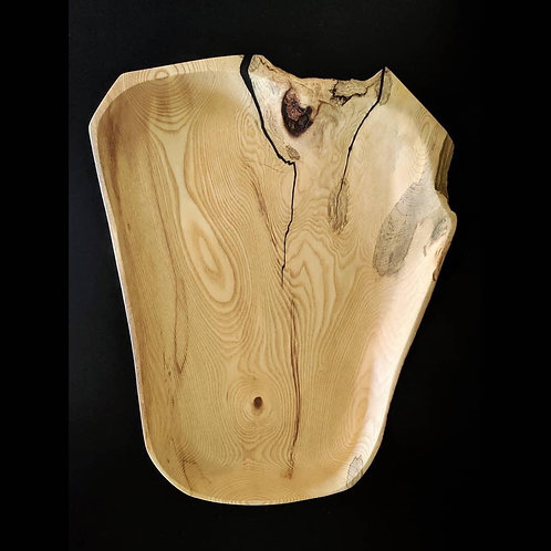 Spalted Ambrosia Maple Platter with Natural Edging
