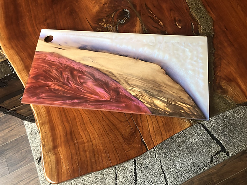 Fire and Ice Resin Charcuterie Board