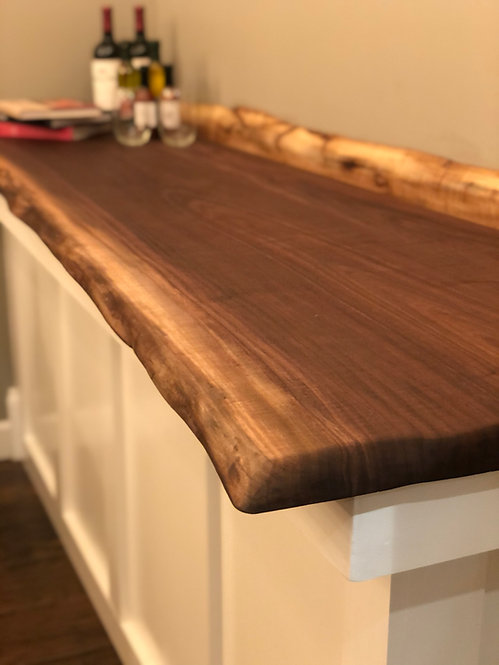 Custom Black Walnut Countertop