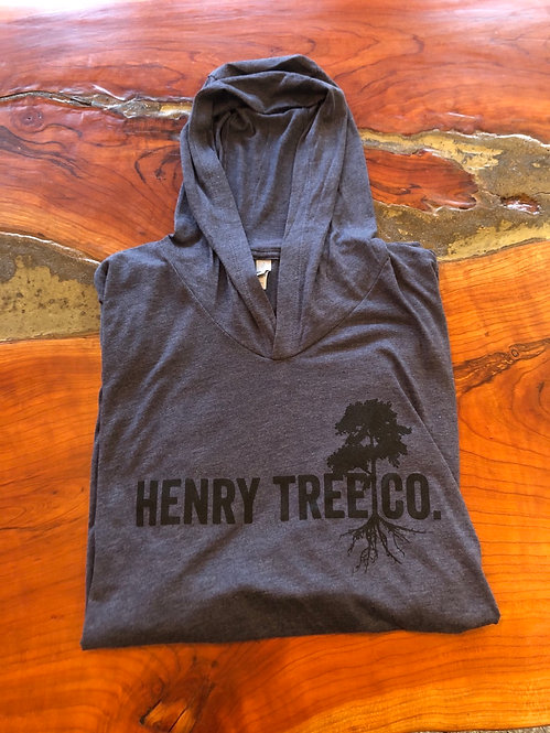 Henry Tree Hooded Long Sleeve-Vintage Navy