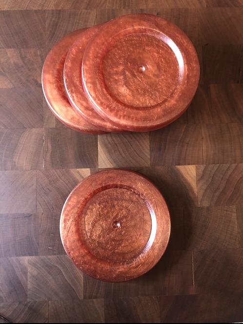 Orange Resin Coasters