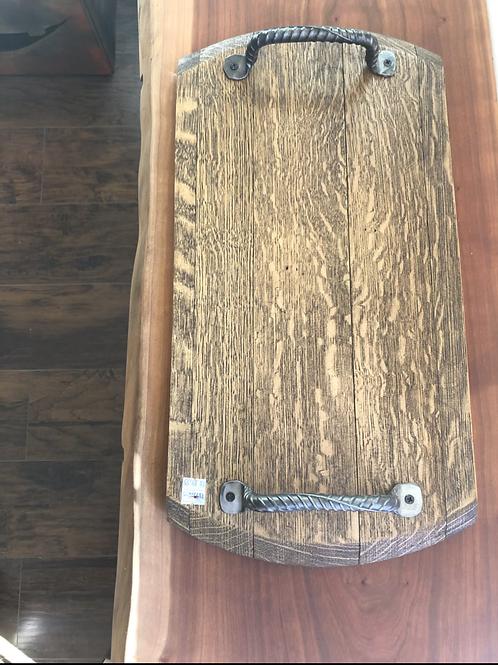 Oak serving tray