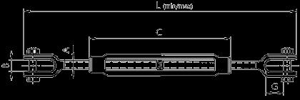 Талреп типа вилка-вилка открытый