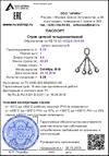 Образец паспорта цепного стропа 100х143.