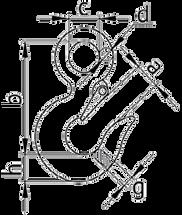Крюк чалочный 320А для строп